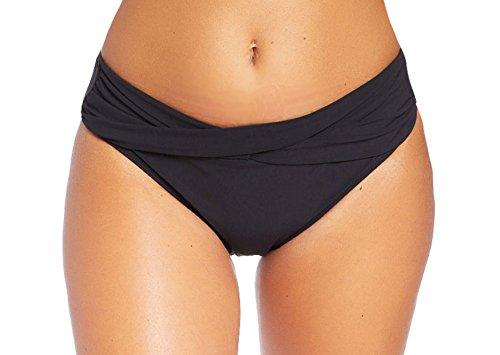 Versandhandel Henry Musch-Malinowski Damen Schwimm-Badeslip/Bikini Slip/Badehose/Baderock mit integriertem Slip Schwarz Verschiedene Varianten und Größen f5384 Farbe: S2(sw) Bikini Slip Black, Gr. 38 -