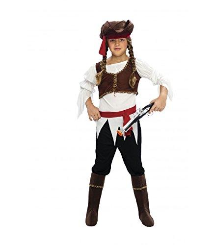 Imagen de disfraz de pirata en varias tallas niña para carnaval