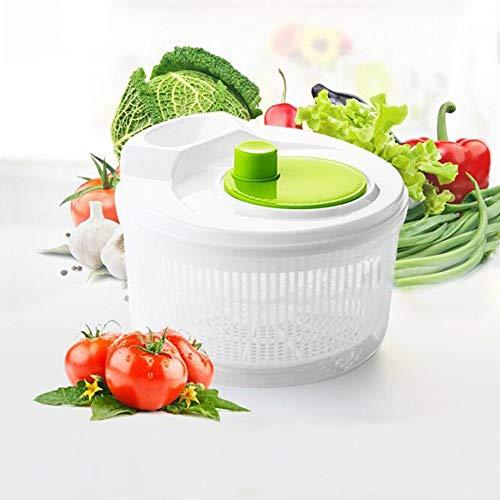 Tomister Salatschleuder, Salat-Trockner 2L Screw Easy Spin Dry Salatschleudern Salatbesteck Obst Gemüse déhydrateurs
