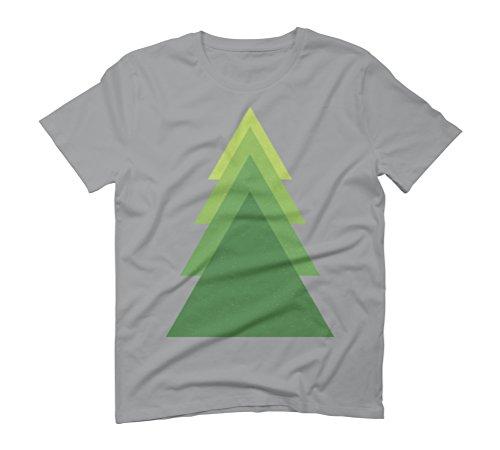 Geometric green tree Men's Graphic T-Shirt - Design By Humans Opal