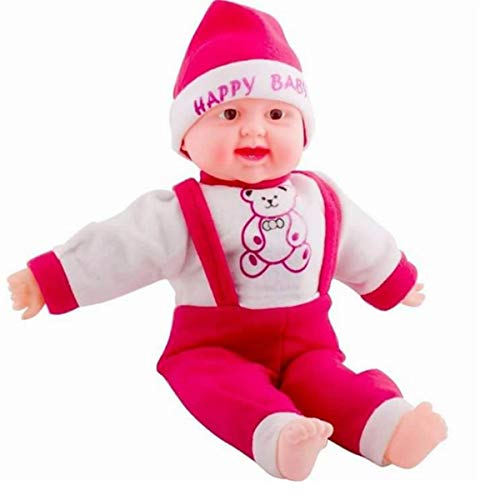 TanMan Toys Happy Baby Musical Touch Sensors and Laughing Boy Doll (Small, Multicolor, 35 cm)