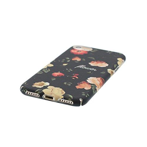 iPhone 7 Plus Custodia, iPhone 7 Plus Copertura 5.5, [ Peso leggero ultra & sottile Silicone Gel Soft Gel ] Cartoon iPhone 7 Plus Case [ Rosa Flower Fiore ], antiurto e ring supporto (Libero) Color 2