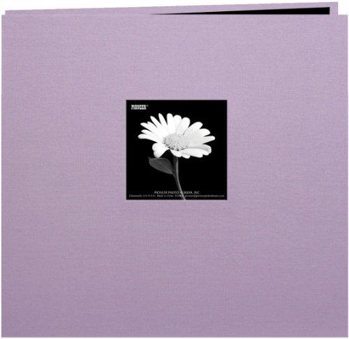 Buchschraubenalbum Book Reinigungstuch Cover mit Fenster 30,5x 30,5cm -misty lila 12x12 Pioneer Fotoalben