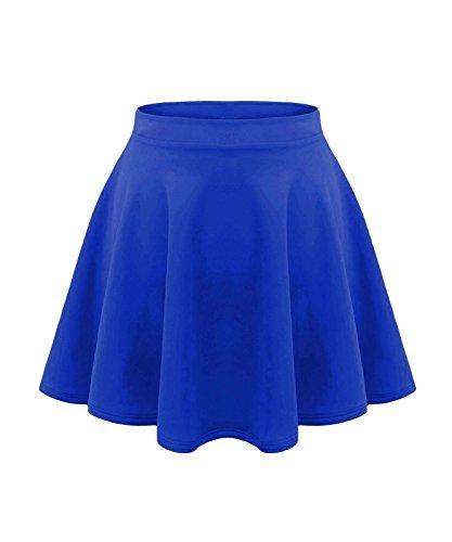 Kids Girls Childern School Summer High Waisted Flared Skater Skirt Age 5-13 (9-10 Years, Royal Blue)