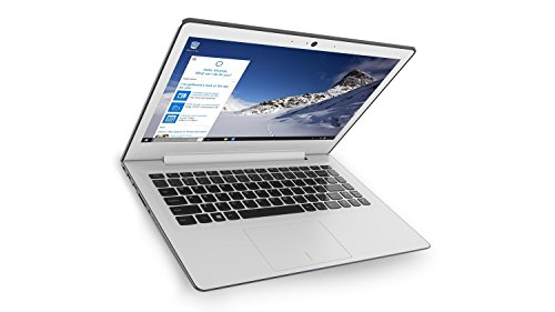 Lenovo 80Q2007QIX IdeaPad 500S Portatile con Display da 13.3', Processore Intel Core i3-6100U da 2.3 GHz, 4 GB DDR3L-SDRAM, 128 GB SSD, Scheda Grafica Intel HD Graphics 520, Windows 10 Home, Bianco
