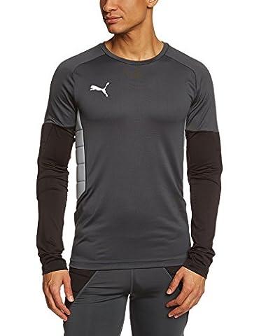 PUMA gK maillot padded shirt de gardien de but pour homme M Gris - Ebony-Black-Tradewinds