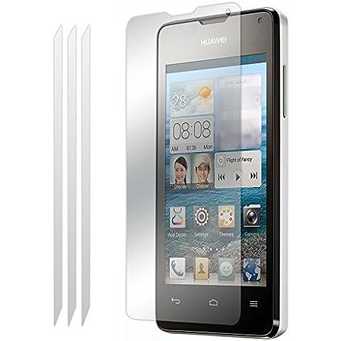 Huawei Ascend Y530 Confezione da 3 Protezione per schermi LCD Guardie Con Panno Di (Telefono Guardia Schermo Custodia In Silicone)