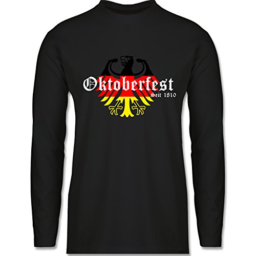 Oktoberfest Herren - Oktoberfest Seit 1810 Deutschland Germany Adler - Herren Langarmshirt Schwarz