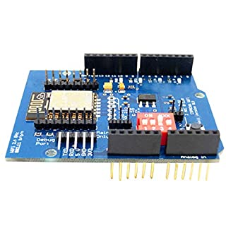 Rekkles ESP8266 ESP-12E WIFI Wireless Shield Development Board Replacement for Arduino UNO R3 Circuits Boards Modules