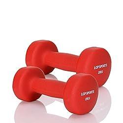 LCP Handels GmbH 2 Kurz-Hanteln Neopren Gewichte Set für Aerobic Fitness Gymnastik 2x2 kg