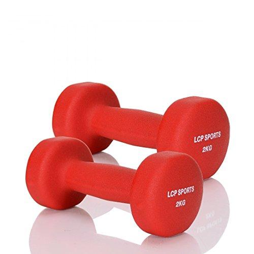 LCP Handels GmbH Kurz-Hantel 2er Set Neopren Gewichte für Aerobic Gymnastik und Fitness; 2x2 kg