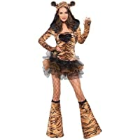 Ladies Fever Tiger Costume Animal Outfit -