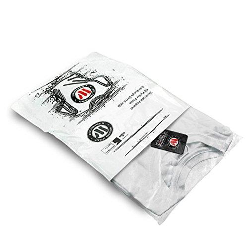 schaurig Toga Ziege Maske römisch Damen Schwarz S-2XL Muskelshirt | Wellcoda Weiß