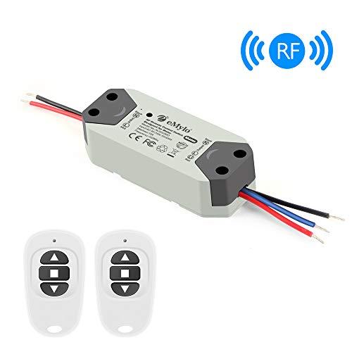eMylo Smart Wireless RF Motor Controller Schalter RF Relaismodul AC 220V Motor Fernsteuerungsschalter 90V-250V 433Mhz für Rolltor/elektrischer Vorhang/Wasserpumpe Control Motor Vorwärts/Rückwärts -