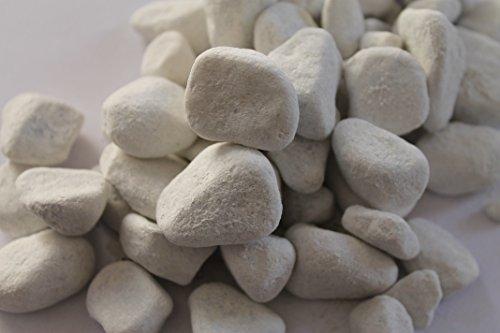 stoneeleven® Carrara Kies - Marmorkies weiß - Körnung 25 - 40 mm (1 kg)