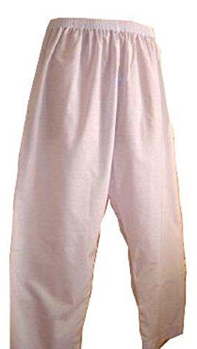 Desert Dress Hose Herren weiß Thobe Unterteil islamischer Pyjama SALWAR Wüste Araber Afghane Wüstenbekleidung - Weiß, L Salwar Hose