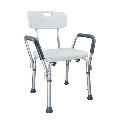 GYGYGY Bath Hocker ältere Schwangere Frau Duschstuhl Behinderte Kinder Nicht Slip Einstellbare Dusche Hocker Bad,White (Kunststoff-stuhl Gleitet)