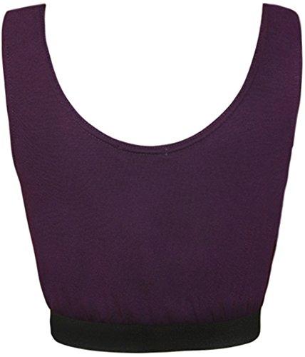 WearAll - Schädel druck kurz bandeau bralet Top - 7 Farben - Größe 36-42 Violett