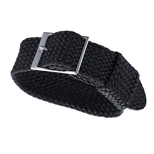 20mm schwarz nato ballistischem Nylon Perlon Uhrbändern 1 Stück für Luxus Männer Uhren geflochtene Textil