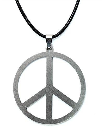 Peace Kette, Hippie Halskette (Silber, 5cm)