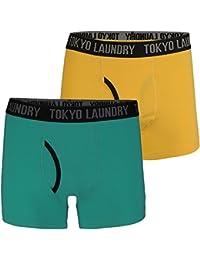 Tokyo Laundry Mens Hatfields Designer Contrast 2 Pack Boxer Shorts