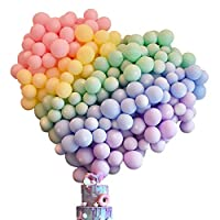‏‪100 Pcs Latex Balloon 12 Inch Assorted Macaron Candy Colored Latex Balloons for Party Birthday Wedding Anniversary and Baby Shower Decorations‬‏