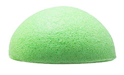 Konjac – Eponge Naturelle Verte – Green Clay Sponge - Konjac Eponge de Visage Nettoyage de Visage - BlancÉponge Konjac - Éponge naturelle