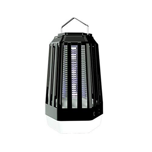 QAQQQ Tragbare Mückenlampe, UV 390-410nm Physikalische Mückenbekämpfung USB-Aufladung Eingebaute 2000mAh Polymerbatterie Geeignet Für Indoor Outdoor Camping,Black,17 * 9.4cm - 390 Usb
