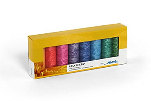 Mettler-Polysheen Polyester Maschine Stickgarn Geschenk Set Kit Pastells–Pro 8Stück (Mettler-polyester-faden)
