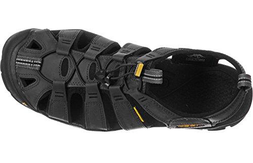 Keen Clearwater Leather Cnx, Sandali a Punta Chiusa Uomo Nero (MAGNET/BLACK)