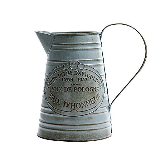 kelihood Vintage Wasserkocher Form Eisen Eimer Blumentopf Zinn Blumentopf für Haus Garten Balkon Dekoration -