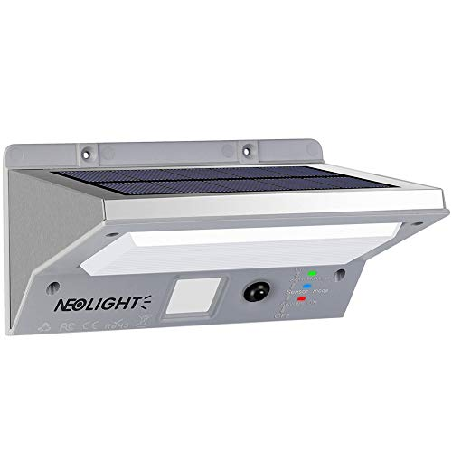 Solarleuchten Außen Wand, Laluztop Solarleuchte mit Bewegungsmelder LED Solarlampe Wasserdicht 3 Modi 21 LED 330 LM, Ideal für Wände/Garten/Innenhof/Flur/Garage/Treppe