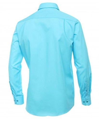 Casa Moda - Comfort Fit - Bügelfreies Herren Business langarm Hemd verschiedene Farben (006050A) Türkis (155)