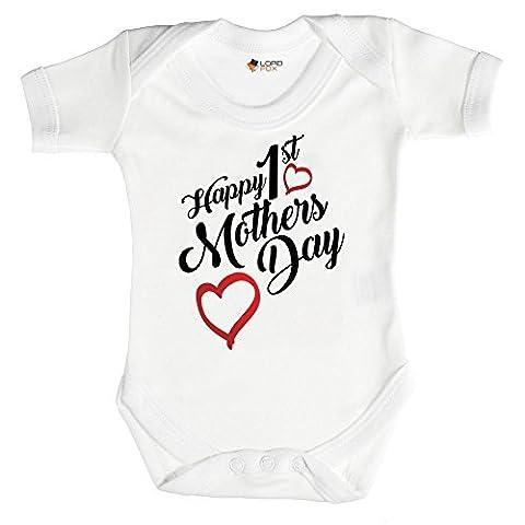 6-12 Months Babygrow Happy 1st Mother's Day Mum Mummy Babygrow Baby Grow All Sizes Onesie