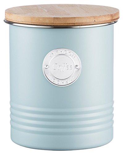 Typhoon Living Kaffee Kanister, 1Liter, Stahl, blau, 11x 11x 15,5cm