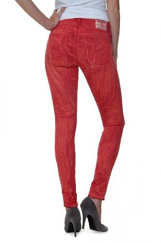 True Religion Damen Jeans Skinny Skinny Jeans Halle SUPER Skinny Legg Wash WA Tomato, Farbe: Rot, Größe: 25 -