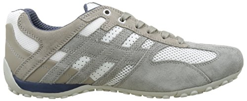 Geox Snake K, Sneakers basses homme Gris (Ice/Whitec0463)