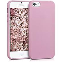 kwmobile Funda para Apple iPhone SE / 5 / 5S - Case para móvil en TPU silicona - Cover trasero en rosa palo mate