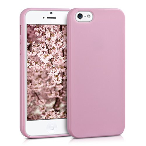 kwmobile Apple iPhone SE / 5 / 5S Hülle - Handyhülle für Apple iPhone SE / 5 / 5S - Handy Case in Altrosa matt - Rosa Cover 5 Iphone