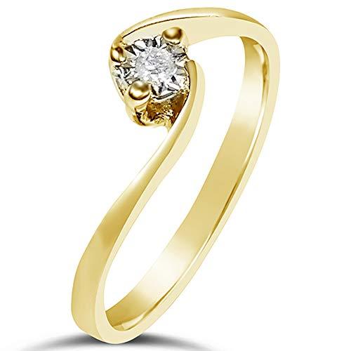 Anello donna fidanzamento oro e diamanti-oro giallo 9kt 375 ♥ diamanti 0.02carati e oro giallo 375, 15 ♥ clicca su mille amori blu e scopri tutte le nostre collezioni