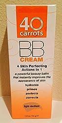 40 Carrots BB Cream, 4 Skin Perfecting Actions in 1, Light-Medium, 1.9 Oz.