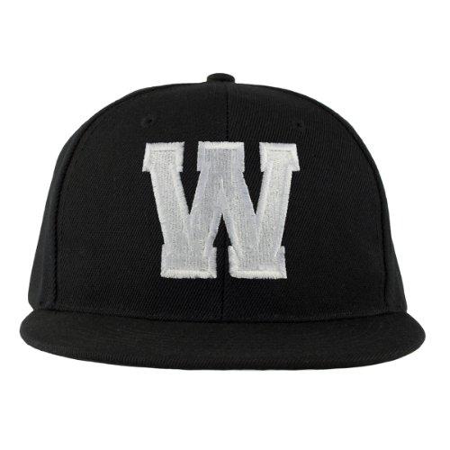Bonnet ABC Letter Casquette Snapback Baseball Hip-Hop en Noir / Blanc avec les lettres A à Z (P) W