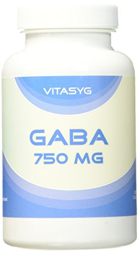 Vitasyg Gaba - 100 Kapsel a 750 mg Gamma-Aminobuttersäure, 1er Pack (1 x 88,5 g) - Gamma-aminobuttersäure