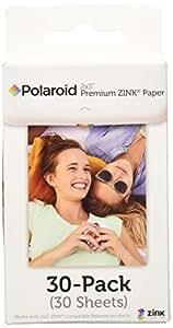 """Polaroid - Papier photo ZINK Premium 2""""x3"""" - LOT DE 30 feuilles - Compatible avec les appareils-photo Polaroid Snap, Z2300 & SocialMatic Instant, et avec l'imprimante Polaroid Zip Instant"""