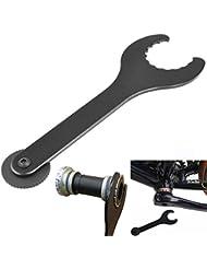 Malayas® Boîtier de Pédalier Clé à Molette BB Outil d'Installation Spanner Shimano Wrench Crankset