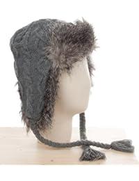 Codello Damen Mütze mit Fell, 22108405-09