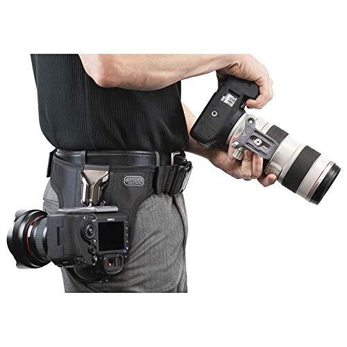 Spider Pro v2 Dual Camera System Hüft-Tragesystem für Zwei professionelle DSLR-Kameras - für alle DSLR, auch Profimodelle mit großen Objektiven Kamera Holster