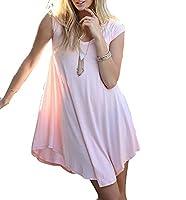 Generic Women's Casual Short Sleeve V Neck Irregular Mini Dress XS 1