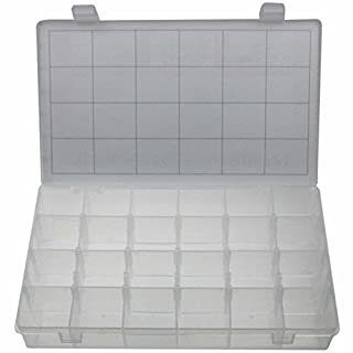 Universal Empty Storage Box XL Box/Assortment Box Assortment Case for Small Parts Storage Box with 24 Compartments stable