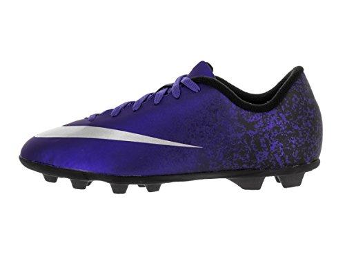 Nike Jr Mercurial Vortex Ii Cr Fg-R, Chaussures de Football Mixte Bébé Bleu - Azul (Dp Ryl Bl / Mtllc Slvr-Rcr Bl-Bl)